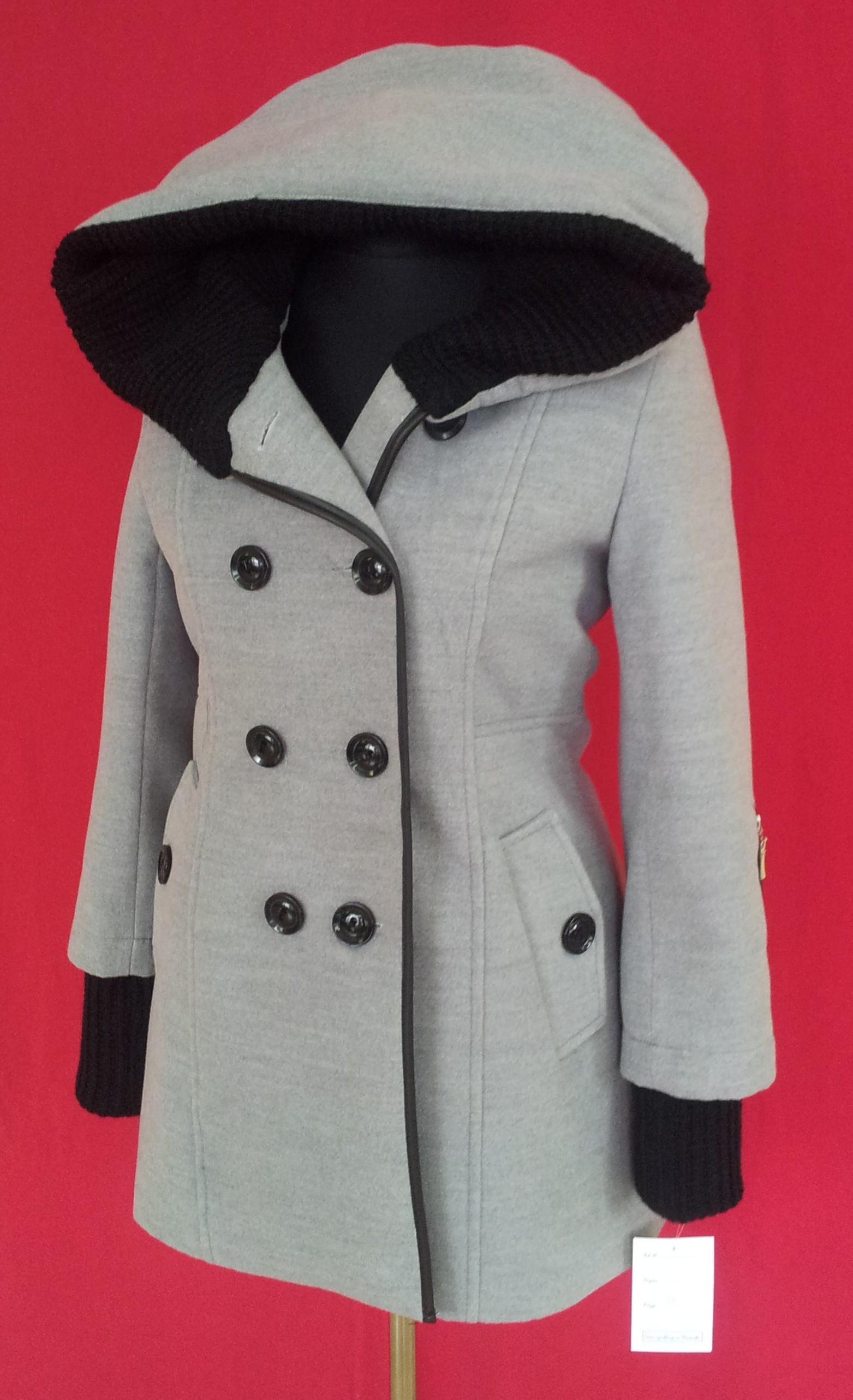 Dámsky zimný kabát kašmír dlhý kapucňa 3eaf5264e2b